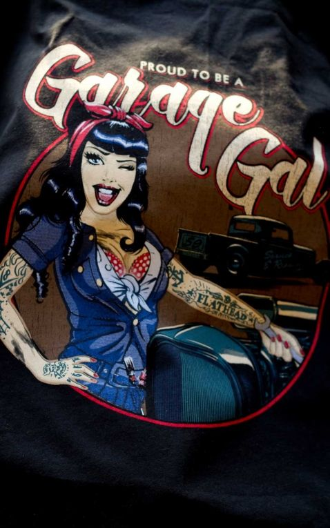 Rumble59 - Ladies Raglanshirt mit Leopatch - Garage Gal