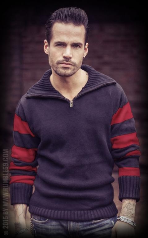 Rumble59 - Racing Sweater - noir/rouge