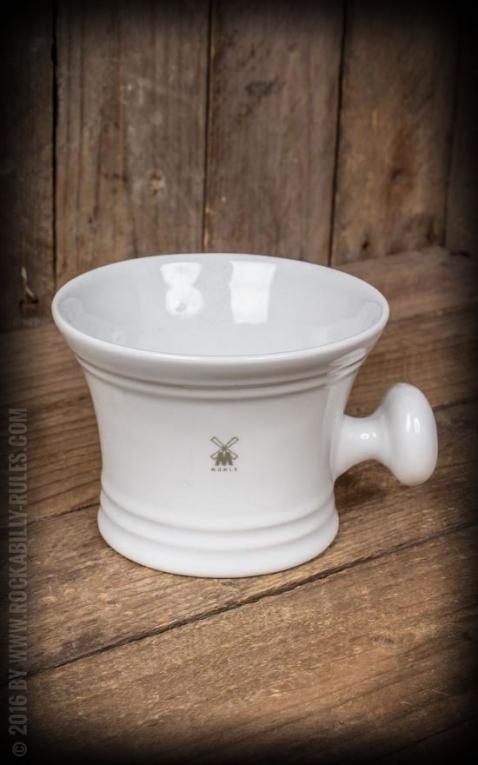shaving mug porcelain, white