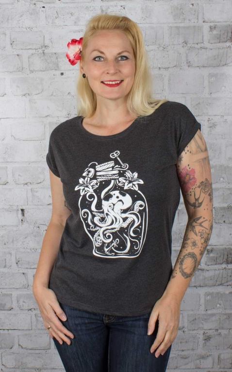 Rebel Rockers Girl Loosefit T-Shirt Octopus