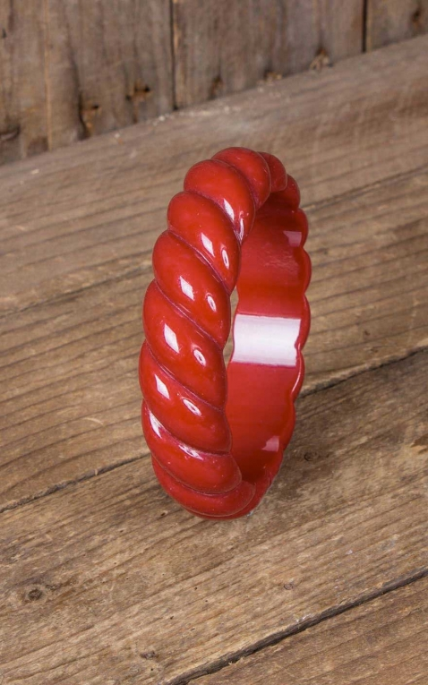 Retro Vintage Bangle, red
