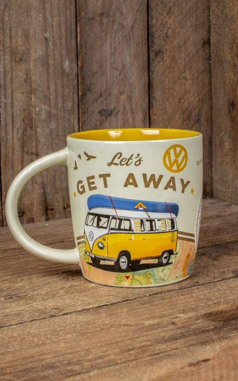 Retro Tasse - VW Bulli - Lets Get Away