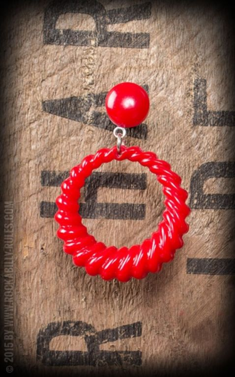 Retro Vintage Earring, red
