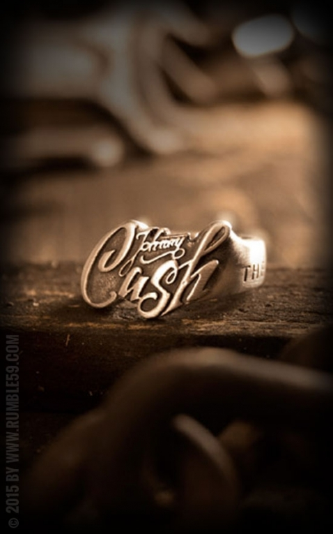 Rumble59 - Stainless Steel Ring - Johnny Cash