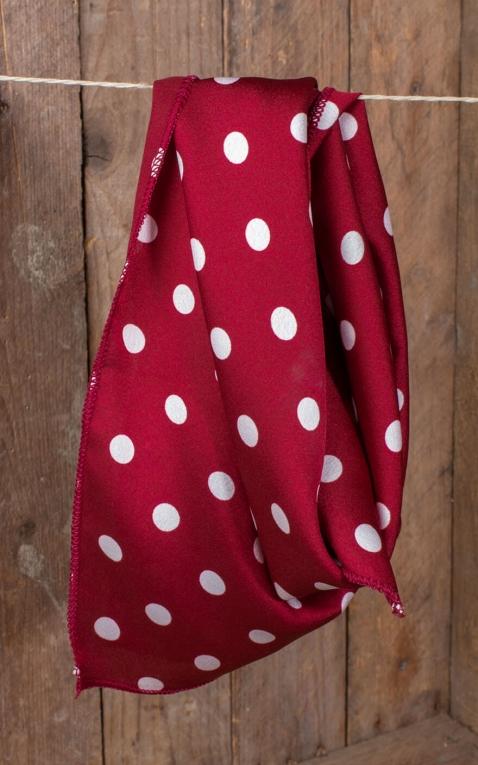 Rockabella foulard / cache-cou / bandeau de cheveux polkadot, rouge et blanc