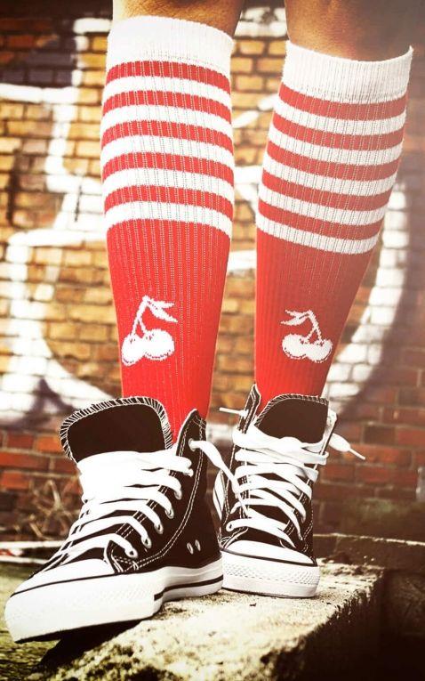 Rockasox- Hi Chaussettes Skate Cherry Temptation