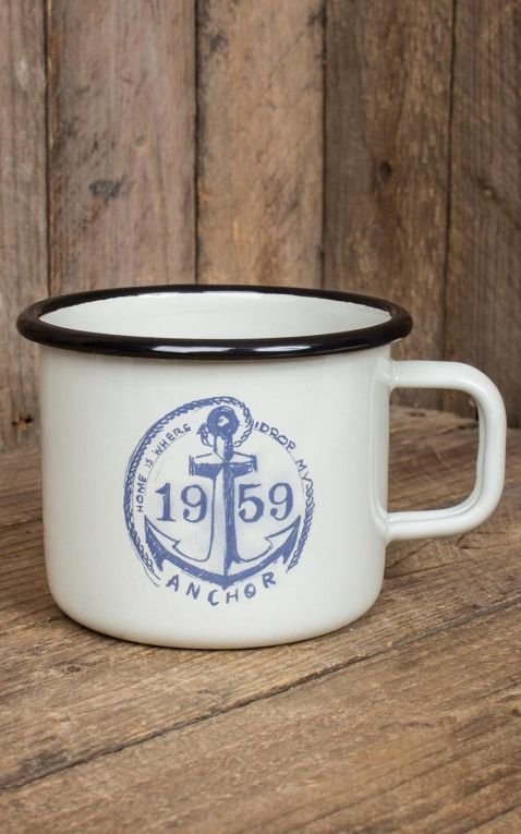 Rumble59 Enamel Mug - Drop my anchor