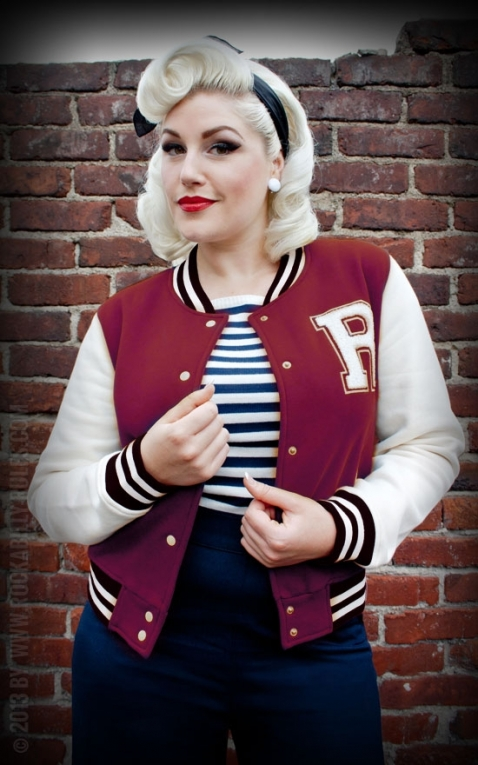 Rumble59 - Sweat College Jacke - bordeaux