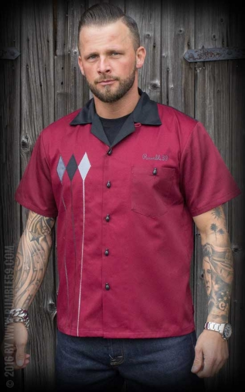 Rumble59 - Bowling Shirt - Rebel Rods
