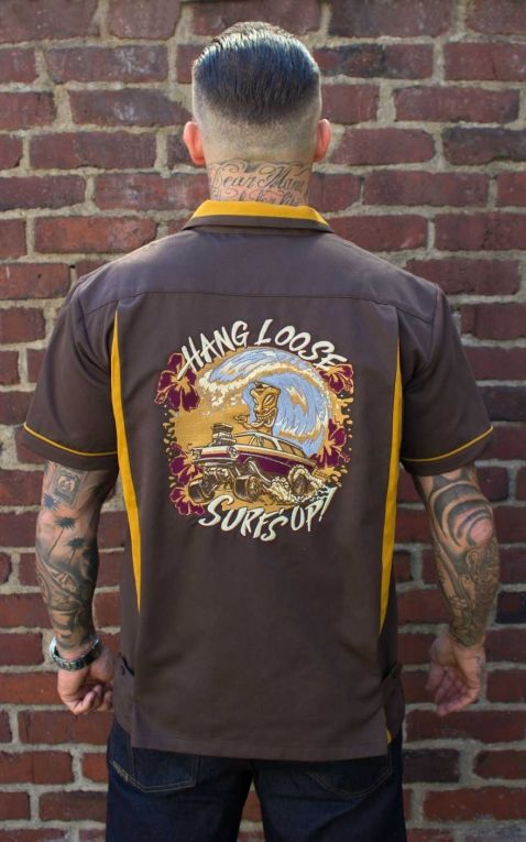 Rumble59 - Bowling Shirt - Hang loose, Surfs up