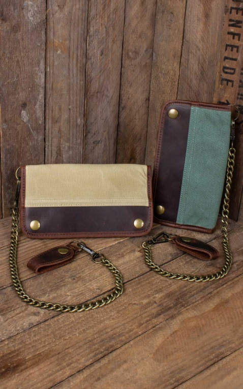Rumble59 - Canvas Leder Wallet - oliv oder beige