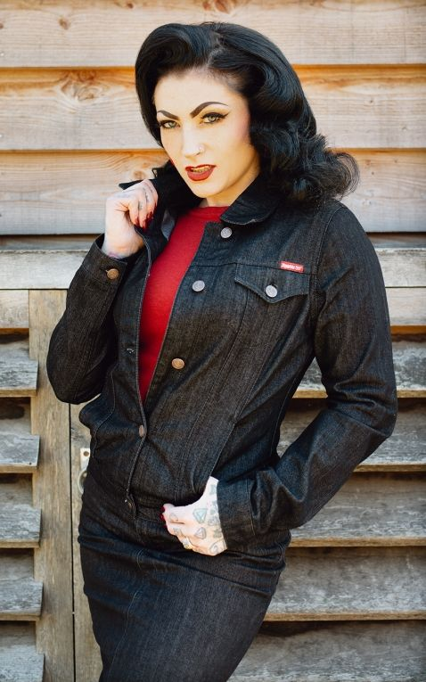 Rumble59 - Ladies Denim Jacket - black