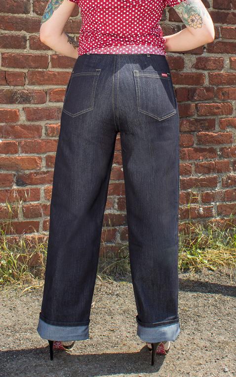 rumble59 marlene jeans blau rockabilly rules. Black Bedroom Furniture Sets. Home Design Ideas