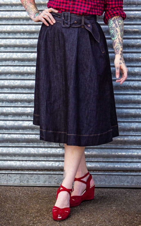 Rumble59 Ladies Denim - Swing Skirt