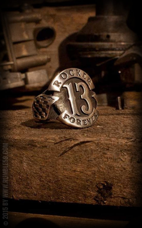 Rumble59 - Bague en acier affiné - Rocker forever