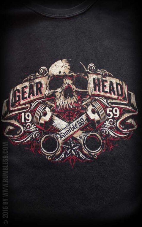 Rumble59 - Gear Head - T-Shirt