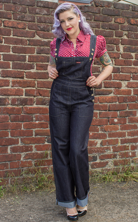 Rumble59 - Ladies Denim - Dungarees/ Playsuit