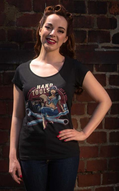 Rumble59 - Ladies Scoop Neck Shirt - Hotrod Bettys Handtools