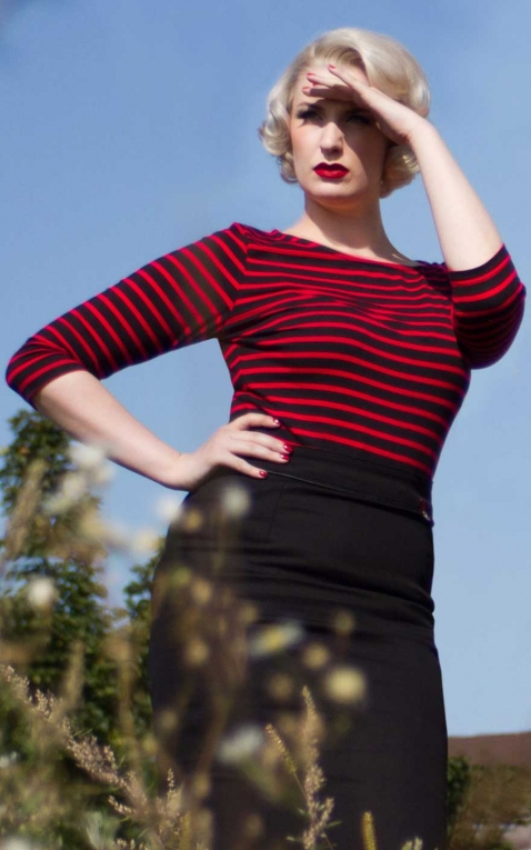 Rumble59 Ladies - Striped Shirt - Lets be Bettie!