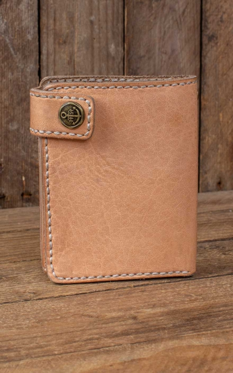 Rumble59 - Leather Wallet Natural - compact size
