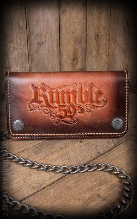 Rumble59 - Leather Wallet sunburst handmade