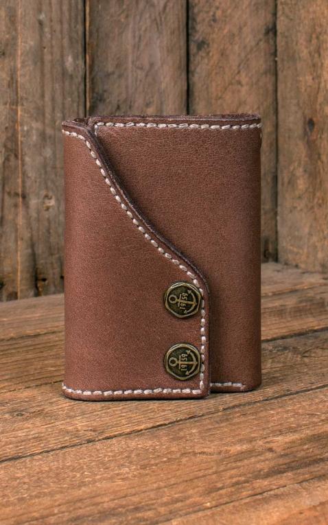 Rumble59 - Portefeuille en cuir Tripartite - compact size