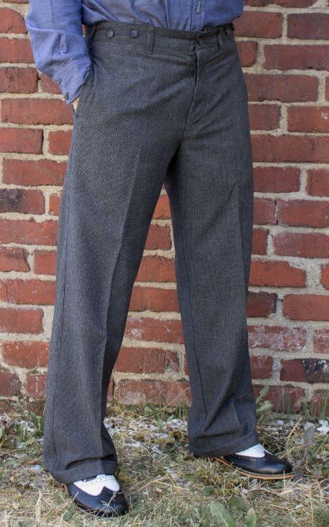 Rumble59 - Vintage Loose Fit Pants New Jersey  - black/grey