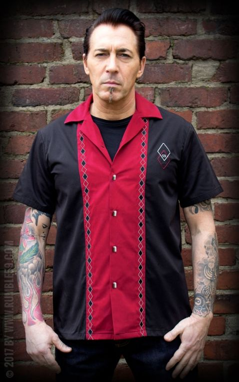 Rumble59 - Lounge Shirt - Rocking Diamonds