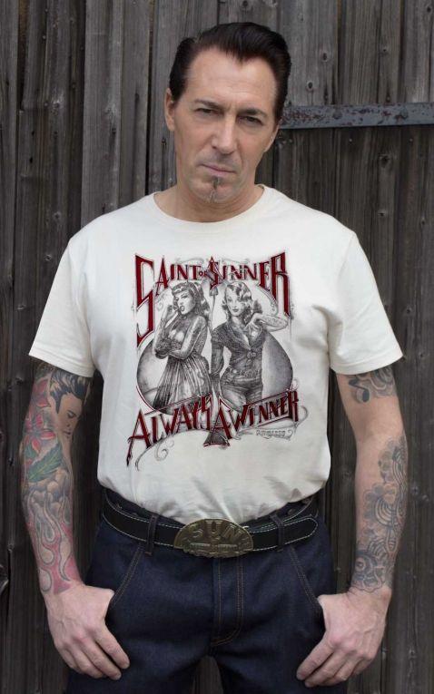 Rumble59 - T-Shirt - Saint or Sinner - crème
