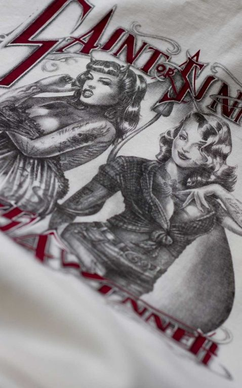 Rumble59 - T-Shirt - Saint or Sinner - offwhite