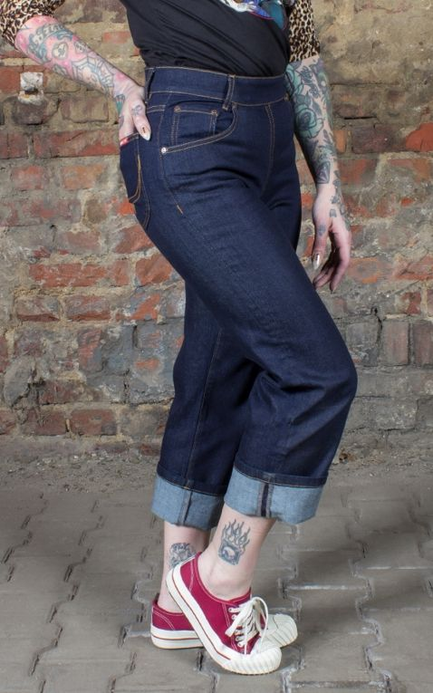 Rumble59 Ladies Denim - Pedal Pusher