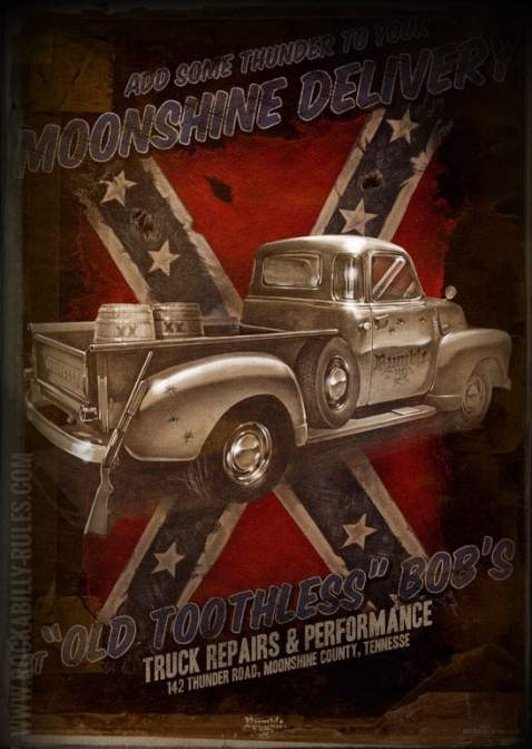 Rumble59 Poster - Moonshine Delivery