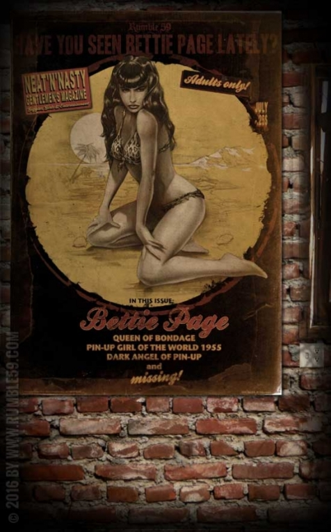 Rumble59 Poster - Bettie Page