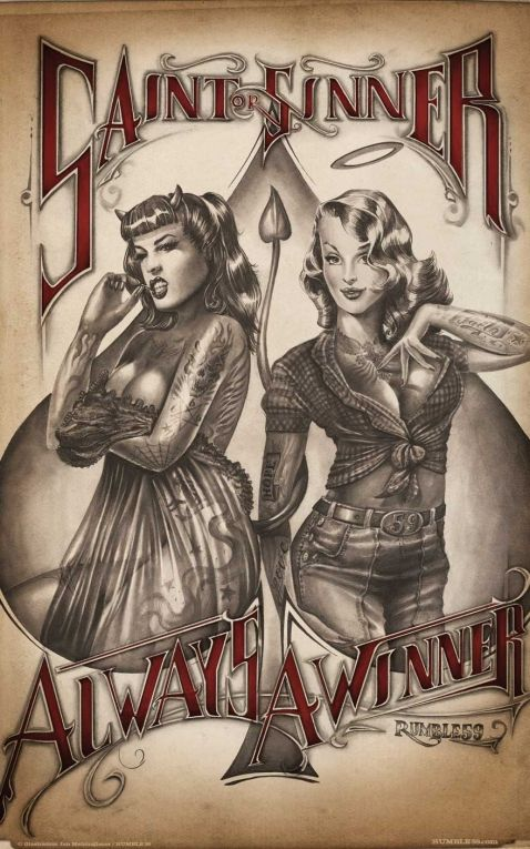 Rumble59 Poster - Saint or Sinner