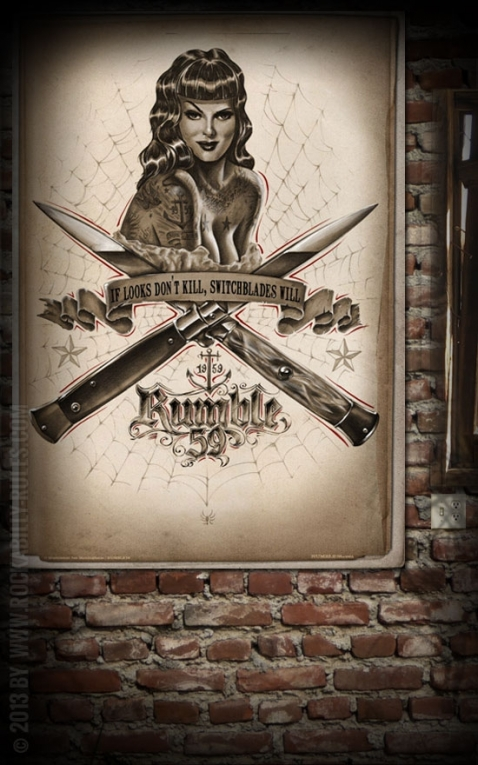 Rumble59 Poster - Switchblades