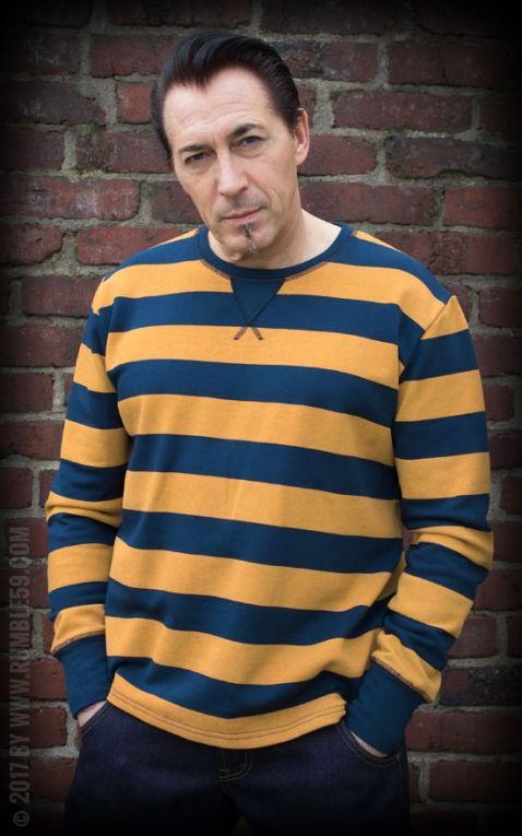 Rumble59 - Sweatshirt - striped blue/mustard
