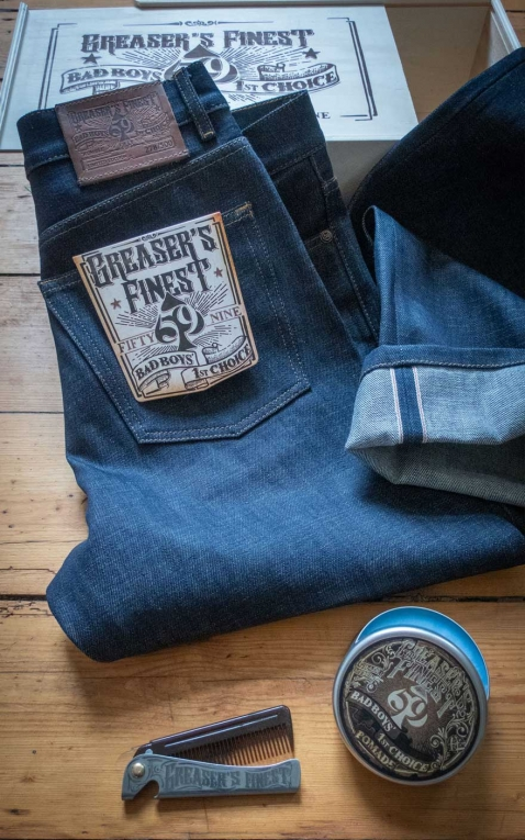Rumble59 - Selvage Denim Greasers Finest, limitiert im Set mit Kamm+Pomade