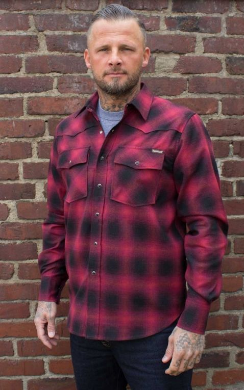 Rumble59 - Shadow Plaid Shirt | Karohemd, rot/schwarz