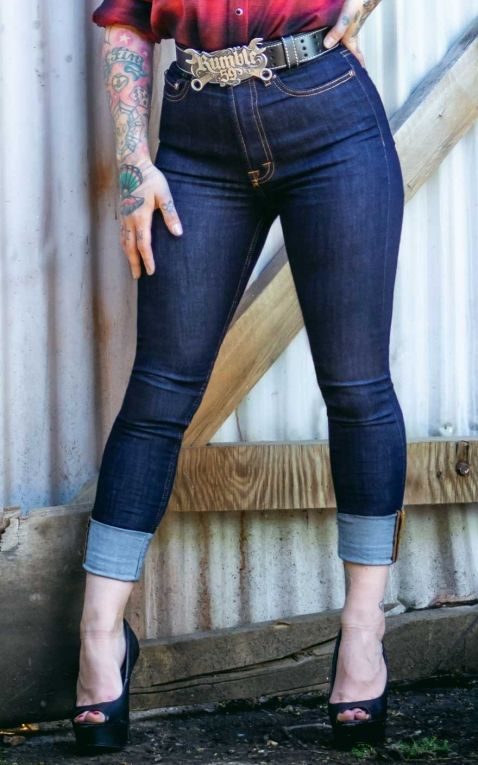 Rumble59 Ladies Denim - High-waisted Skinny Jeans - Second skin