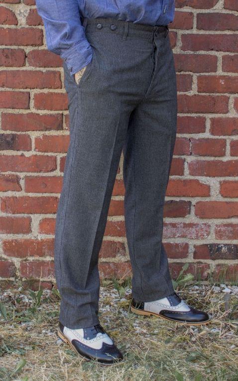 Rumble59 - Vintage Slim Fit Pants Providence - gris/noir