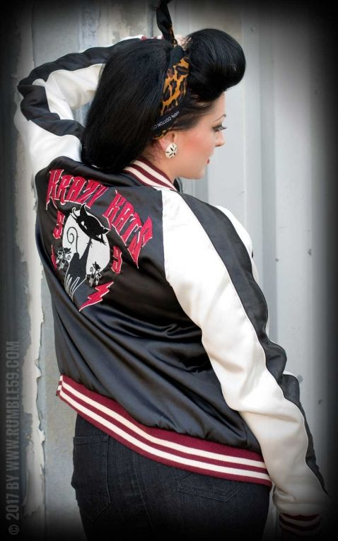 Rumble59 - Souvenir Jacket | 2-in-1 Satin Bomber Jacket Krazy Katz