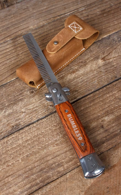 Rumble59 - Switchblade-Comb with Leather Case