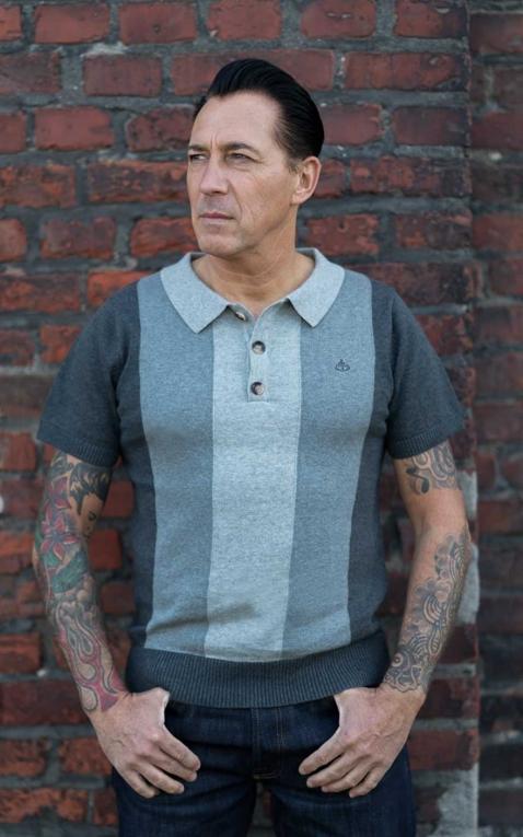 Rumble59 - Polo tricoté - Portland - gris