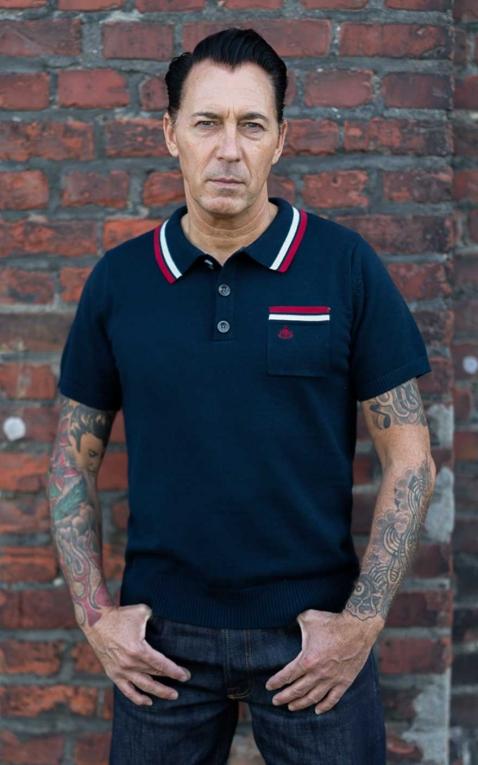 Rumble59 - Knitted Polo Shirt - Redmond - blue