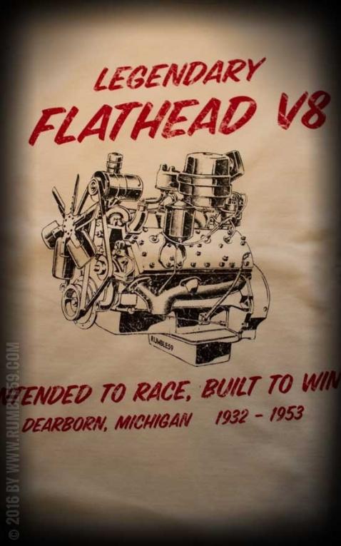 Rumble59 - T-Shirt - Flathead V8 - offwhite