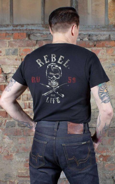 Rumble59 - T-Shirt - Rebel for life