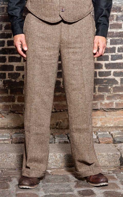 Rumble59 - Vintage Loose Fit Pants Sacramento - beige/brown