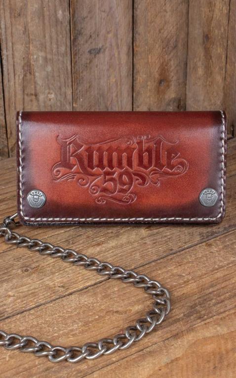 Rumble59 - Leather Wallet sunburst handmade