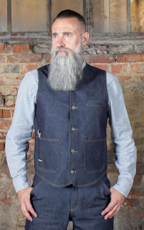 Rumble59 - Gilet en jean RAW - Dapper Workman