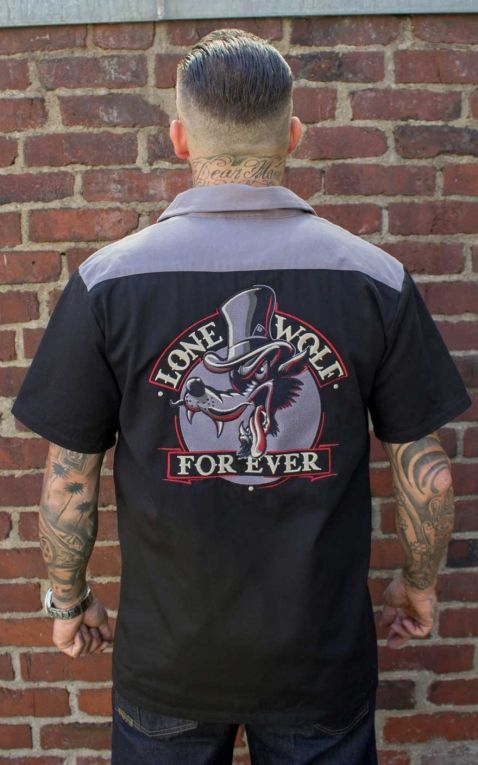 Rumble59 - Worker Shirt - Lone wolf forever